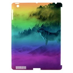 Yellowstone Wolfs Sunset Apple Ipad 3/4 Hardshell Case (compatible With Smart Cover) by PodArtist