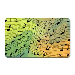 Music Notes Magnet (rectangular) by linceazul