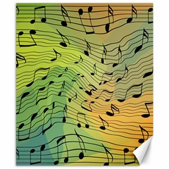 Music Notes Canvas 8  X 10  by linceazul