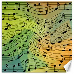 Music Notes Canvas 12  X 12   by linceazul