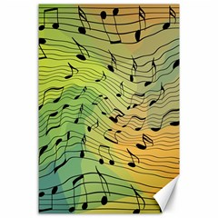 Music Notes Canvas 24  X 36  by linceazul
