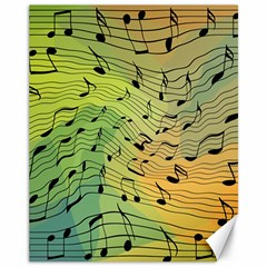 Music Notes Canvas 11  X 14   by linceazul