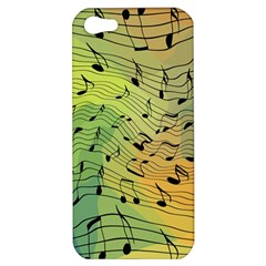 Music Notes Apple Iphone 5 Hardshell Case by linceazul