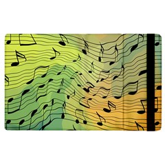 Music Notes Apple Ipad 3/4 Flip Case by linceazul