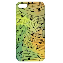 Music Notes Apple Iphone 5 Hardshell Case With Stand by linceazul