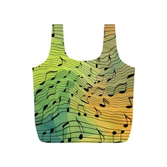 Music Notes Full Print Recycle Bags (s)  by linceazul
