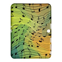 Music Notes Samsung Galaxy Tab 4 (10 1 ) Hardshell Case  by linceazul