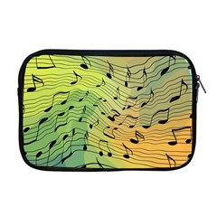 Music Notes Apple Macbook Pro 17  Zipper Case by linceazul