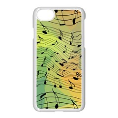 Music Notes Apple Iphone 8 Seamless Case (white) by linceazul