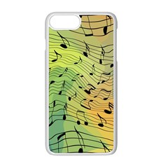 Music Notes Apple Iphone 8 Plus Seamless Case (white) by linceazul