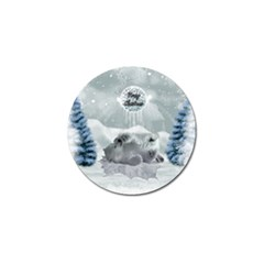 Cute Polar Bear Baby, Merry Christmas Golf Ball Marker (4 Pack)