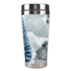Cute Polar Bear Baby, Merry Christmas Stainless Steel Travel Tumblers by FantasyWorld7