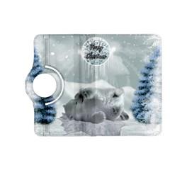 Cute Polar Bear Baby, Merry Christmas Kindle Fire Hd (2013) Flip 360 Case by FantasyWorld7