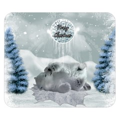 Cute Polar Bear Baby, Merry Christmas Double Sided Flano Blanket (small)  by FantasyWorld7
