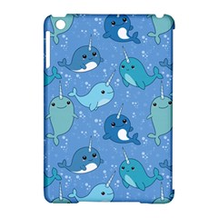 Cute Narwhal Pattern Apple Ipad Mini Hardshell Case (compatible With Smart Cover) by allthingseveryday