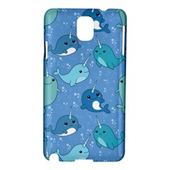Cute Narwhal Pattern Samsung Galaxy Note 3 N9005 Hardshell Case by allthingseveryday