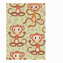 Cute Cartoon Monkeys Pattern Small Garden Flag (two Sides) by allthingseveryday