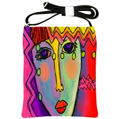 Abstract Faceyy Shoulder Sling Bags