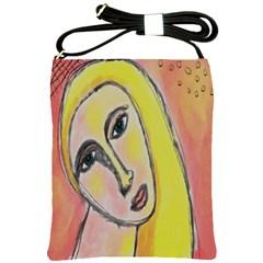 Funky Abstract Woman Shoulder Sling Handbag Shoulder Sling Bags