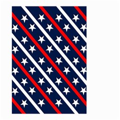 Patriotic Red White Blue Stars Small Garden Flag (two Sides)