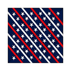 Patriotic Red White Blue Stars Acrylic Tangram Puzzle (6  X 6 ) by Celenk