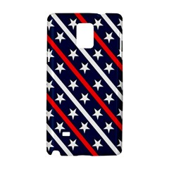 Patriotic Red White Blue Stars Samsung Galaxy Note 4 Hardshell Case by Celenk