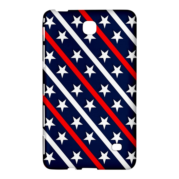 Patriotic Red White Blue Stars Samsung Galaxy Tab 4 (8 ) Hardshell Case