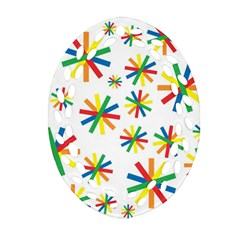 Celebrate Pattern Colorful Design Oval Filigree Ornament (two Sides) by Celenk
