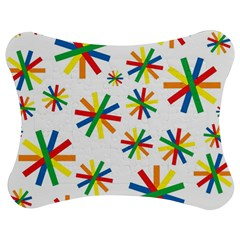 Celebrate Pattern Colorful Design Jigsaw Puzzle Photo Stand (bow) by Celenk