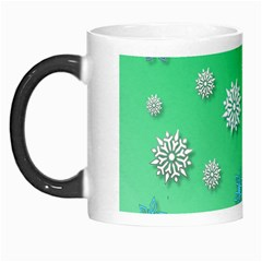 Snowflakes Winter Christmas Overlay Morph Mugs by Celenk
