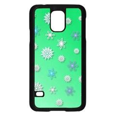 Snowflakes Winter Christmas Overlay Samsung Galaxy S5 Case (black)