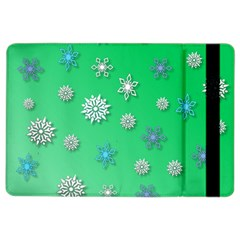 Snowflakes Winter Christmas Overlay Ipad Air 2 Flip by Celenk