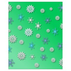 Snowflakes Winter Christmas Overlay Drawstring Bag (small) by Celenk