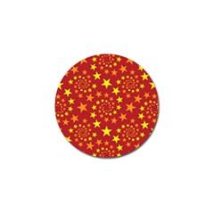 Star Stars Pattern Design Golf Ball Marker (4 Pack) by Celenk