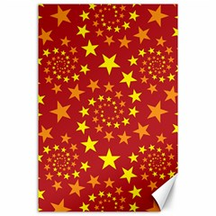 Star Stars Pattern Design Canvas 24  X 36