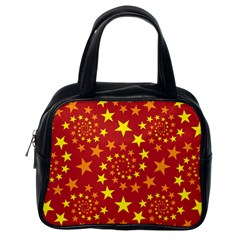 Star Stars Pattern Design Classic Handbags (one Side) by Celenk