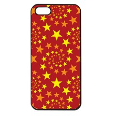 Star Stars Pattern Design Apple Iphone 5 Seamless Case (black) by Celenk