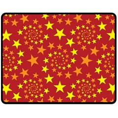 Star Stars Pattern Design Double Sided Fleece Blanket (medium)  by Celenk