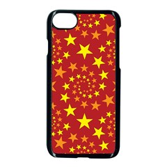 Star Stars Pattern Design Apple Iphone 8 Seamless Case (black) by Celenk