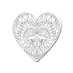 Heart Love Valentines Day Heart Magnet by Celenk