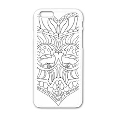 Heart Love Valentines Day Apple Iphone 6/6s White Enamel Case by Celenk