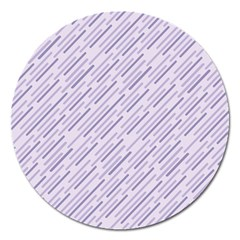 Halloween Lilac Paper Pattern Magnet 5  (round) by Celenk