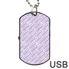 Halloween Lilac Paper Pattern Dog Tag Usb Flash (one Side) by Celenk