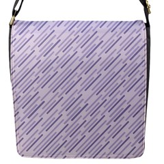Halloween Lilac Paper Pattern Flap Messenger Bag (s) by Celenk