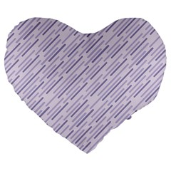 Halloween Lilac Paper Pattern Large 19  Premium Flano Heart Shape Cushions by Celenk