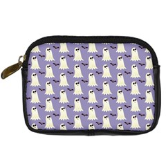 Bat And Ghost Halloween Lilac Paper Pattern Digital Camera Cases by Celenk