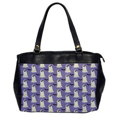 Bat And Ghost Halloween Lilac Paper Pattern Office Handbags by Celenk