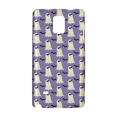Bat And Ghost Halloween Lilac Paper Pattern Samsung Galaxy Note 4 Hardshell Case by Celenk