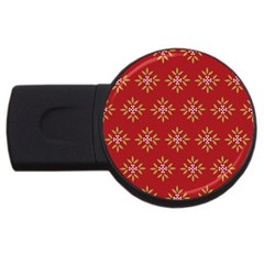 Pattern Background Holiday Usb Flash Drive Round (2 Gb) by Celenk