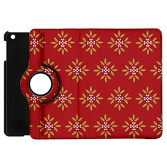 Pattern Background Holiday Apple Ipad Mini Flip 360 Case by Celenk